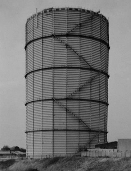 Bernd and Hilla Becher, Gas Tank: St. Helens, GB, 1997 2005, Gelatin silver print (black & white)