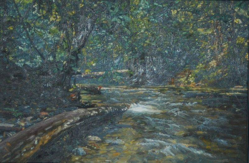 Boyd & Evans, Sungai III 1994, Oil on canvas