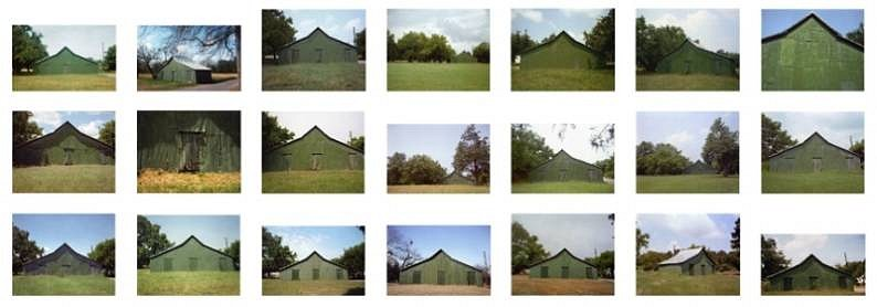 William Christenberry, Green Warehouse, Newbern, Alabama 1973-2004, Chromogenic print (color)