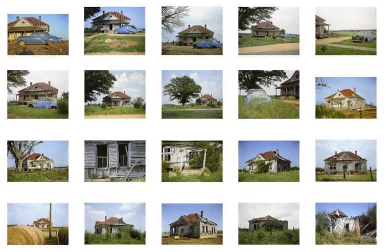 William Christenberry, House and Car, Near Akron, Alabama 1978-2005, Chromogenic print (color)