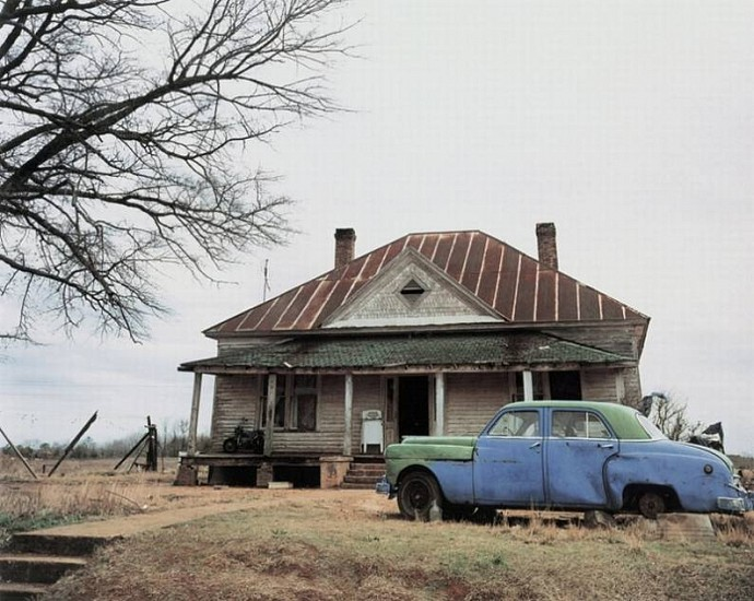 William Christenberry, House and Car, Near Akron, Alabama 1981, Pigment print