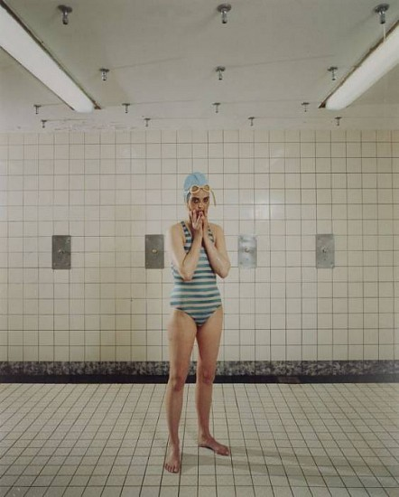 Rineke Dijkstra, Self Portrait, Marnixbad, Amsterdam 1991; Printed 2004, Chromogenic print (color)