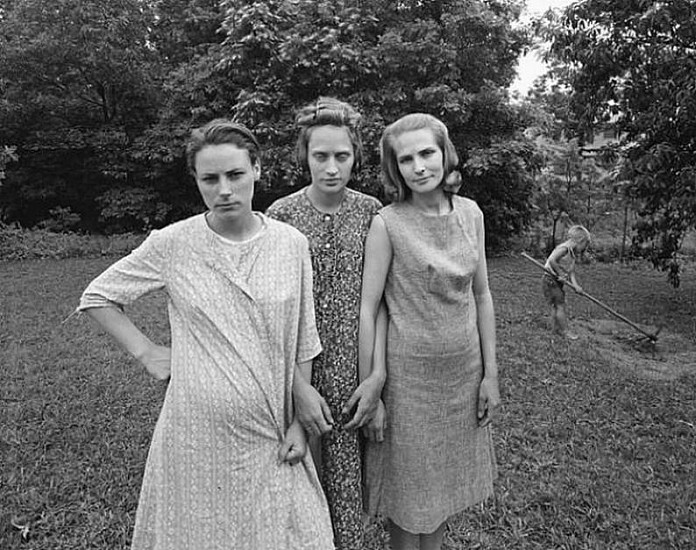 Emmet Gowin, Edith, Ruth and Mae, Danville, VA 1967, Silver print