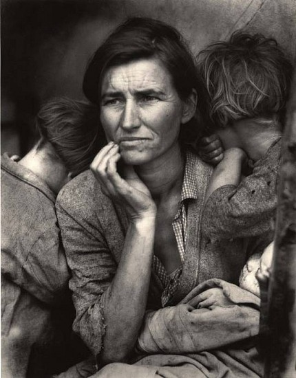 Dorothea Lange, Migrant Mother, Nipomo, California, 1936 c. 1950, Gelatin silver print (black & white)