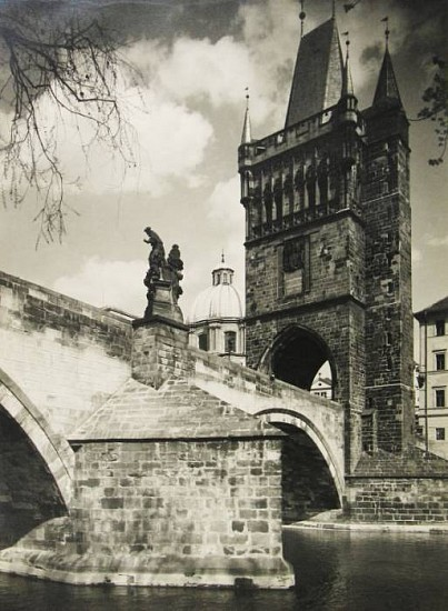 Karel Plicka, Mostecka vez v Praze (Bridge Tower in Prague) 1936, Gelatin silver print (black & white)
