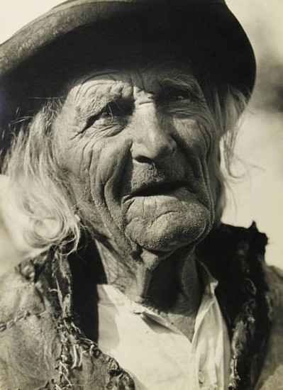 Karel Plicka, Stary horal (Old Mountaineer) 1930, Gelatin silver print (black & white)