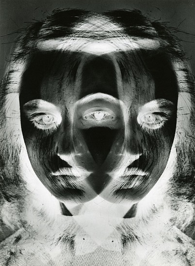 Otto Steinert, Mask of a Dancer 1952, Gelatin silver print (black & white)