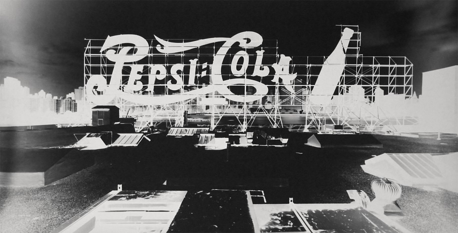 Vera Lutter, Pepsi Cola, Long Island City, August 2000 2000, Gelatin silver print (black & white)