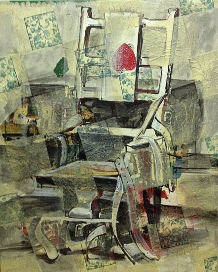 Rainer Gross, Ohne Worte: Sitzgelegen heit II, Without Words: Seating Accomodation II 1991, Acrylic, oil and paper collage on canvas