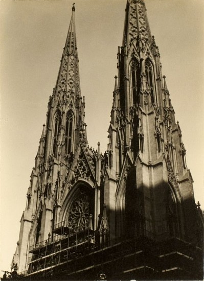 Dorothy Norman, St. Patricks Cathedral, New York Gelatin silver print (black & white)