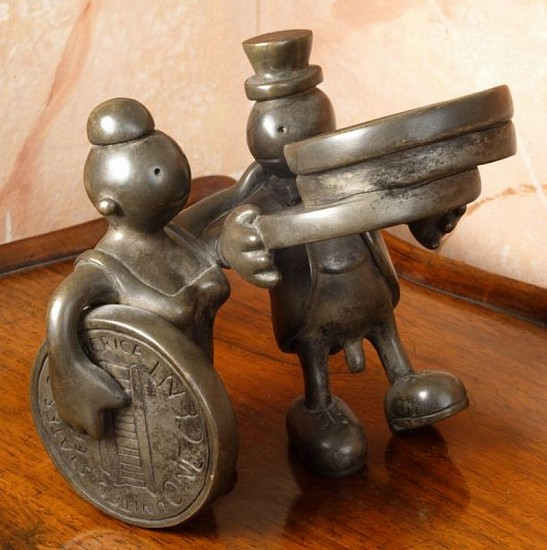 Tom Otterness, Couple with Pennies 1990, Bronze with silver nitrate patina