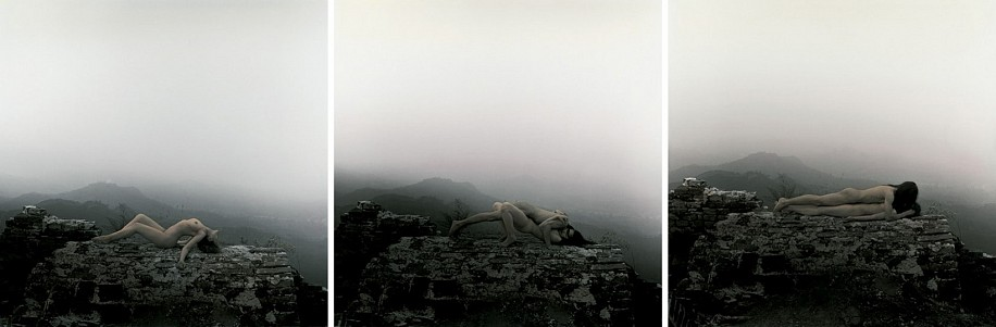 RongRong & inri, On the Great Wall, China, No. 1, No. 2, No. 3 2000, Hand-dyed gelatin silver prints
