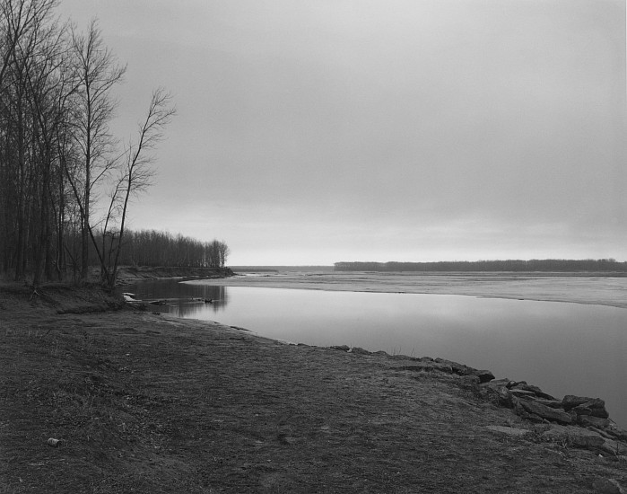 Robert Adams, Missouri River, Clay Country, South Dakota 1977; Printed 1989, Gelatin silver print (black & white)