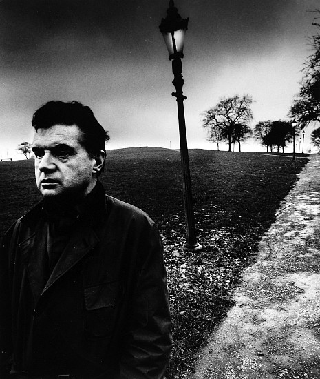 Bill Brandt, Francis Bacon Walking on Primrose Hill, London 1963; Printed c. 1963, Gelatin silver print (black & white)