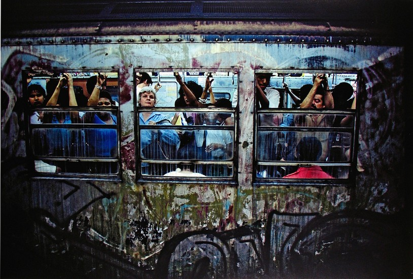 Bruce Davidson, Untitled, Subway, New York 1980; Printed 2013, Archival Pigment Print
