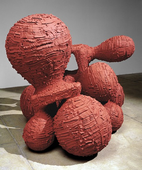 Tony Cragg, Formulation (right turning, left turning) 2000, Bronze