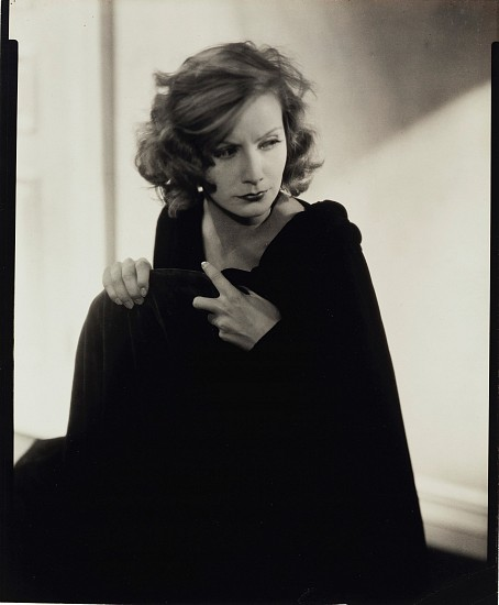 Edward Steichen, Greta Garbo for Vanity Fair, Hollywood 1928, Gelatin silver contact print (black & white)