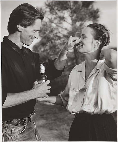 Bruce Weber, Sam Shepard and Jessica Lange, Santa Fe, New Mexico 1984; printed later, Gelatin silver print (black & white)