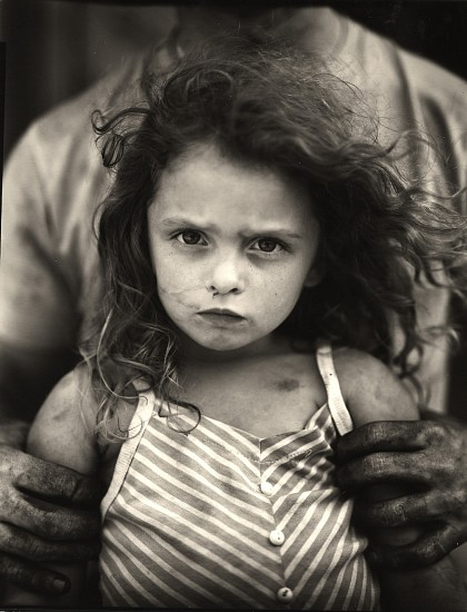 Sally Mann, Holding Virginia 1989, Gelatin silver enlargement print (black & white)
