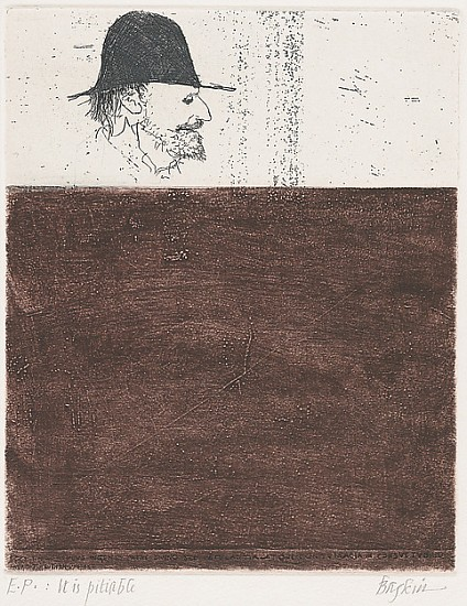Leonard Baskin, E.P.  It is Pitiable c.1950-1969 (most likely 1964), Etching