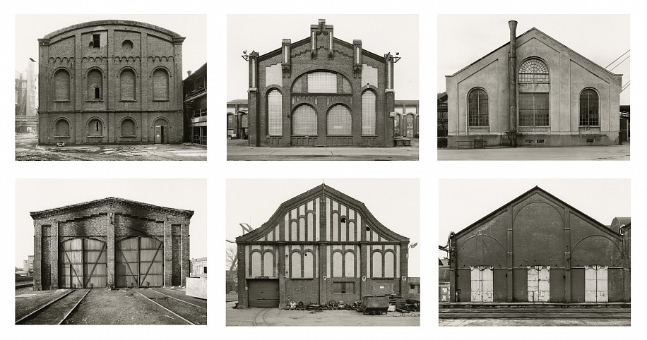Bernd and Hilla Becher, Engine Houses 1967-1984; 1986, Ferrotyped gelatin silver print (black & white)