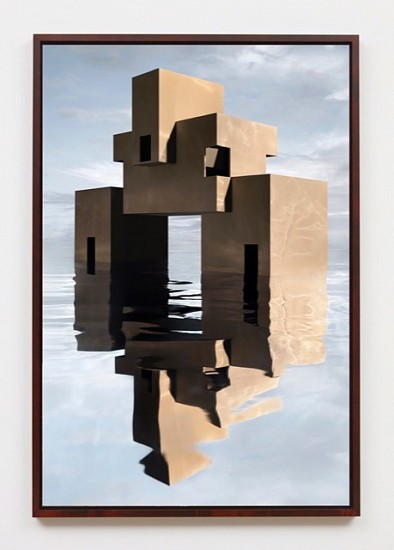 James Casebere, Brutalist House on Water 2019, Archival pigment print mounted to dibond
